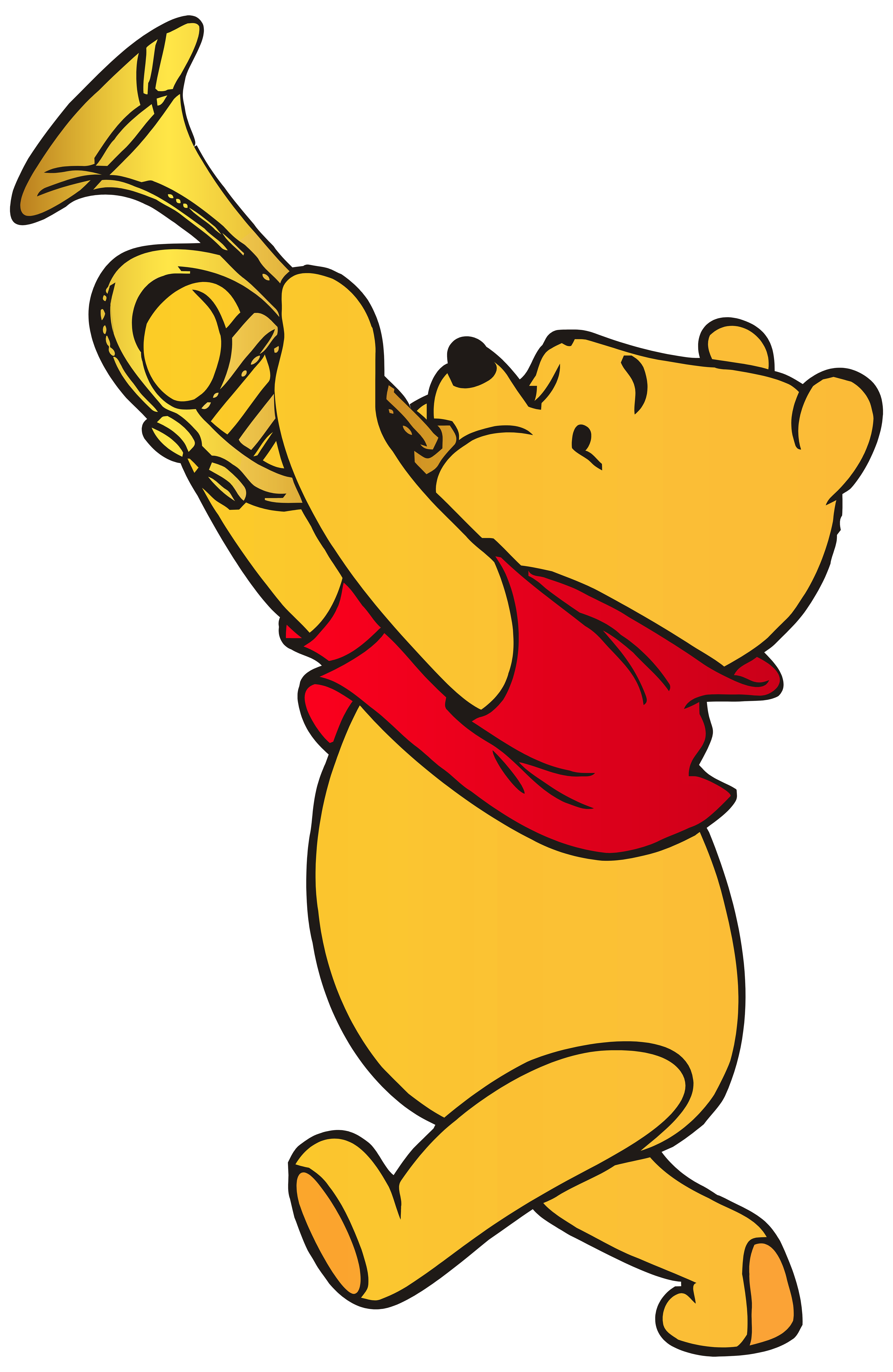 5209x8000 Skillful Ideas Winnie The Pooh Clipart Playing Trumpet Png Clip