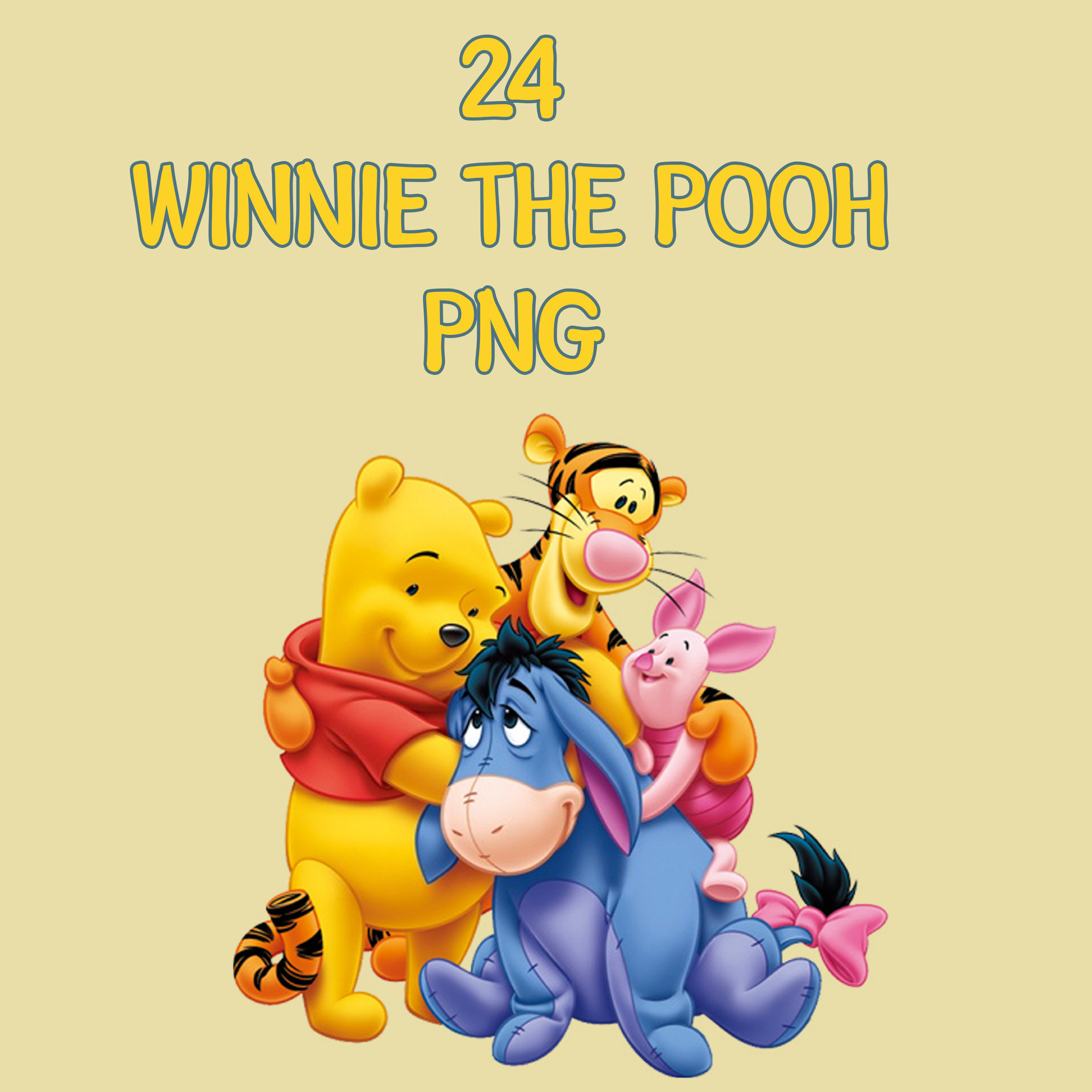 2400x2400 Winnie The Pooh Clip Art Poster Making Arts And Crafts Diy
