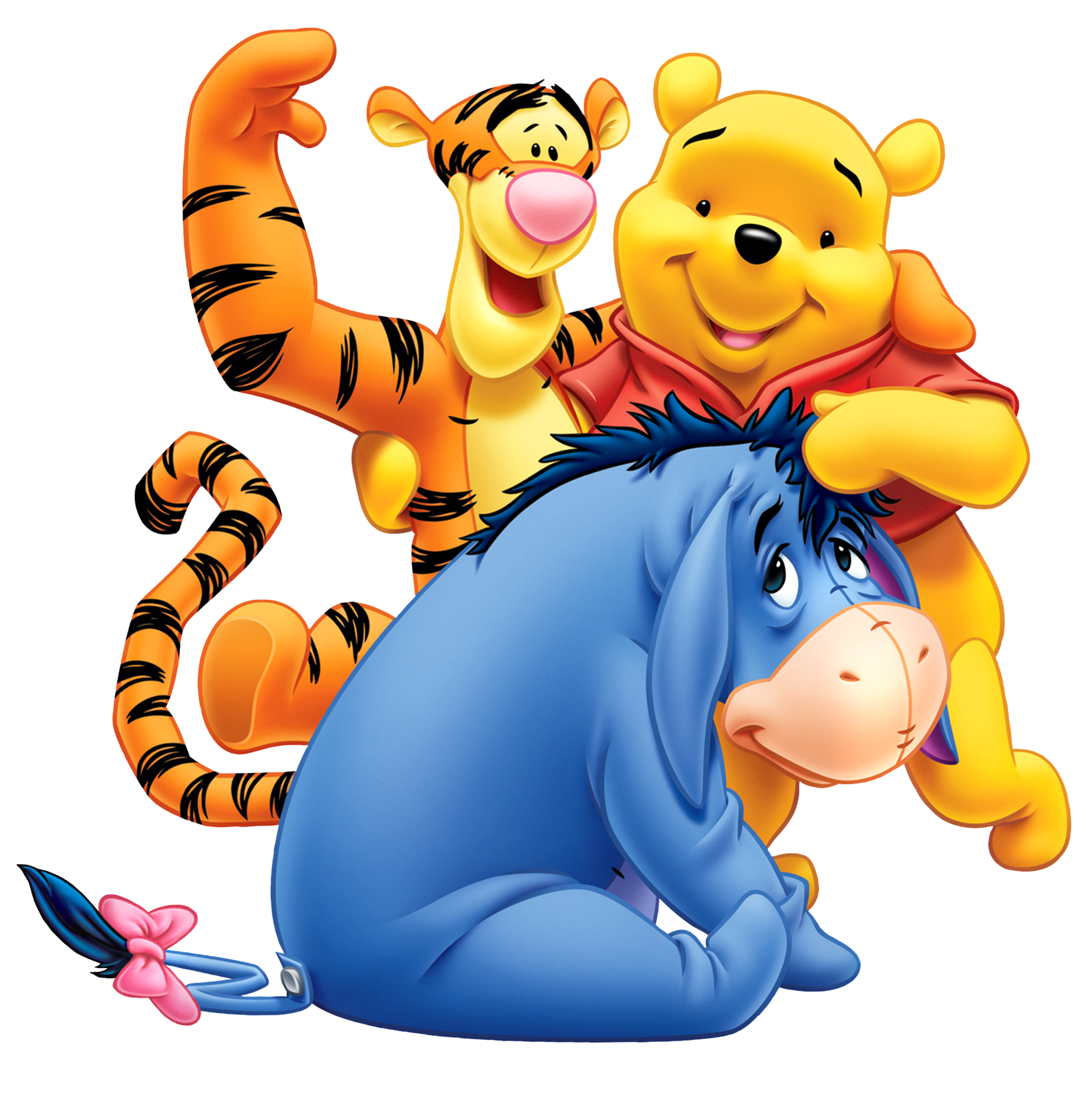 2623x2647 Winnie The Pooh Eeyore And Tiger Transparent Png Clip Art Image