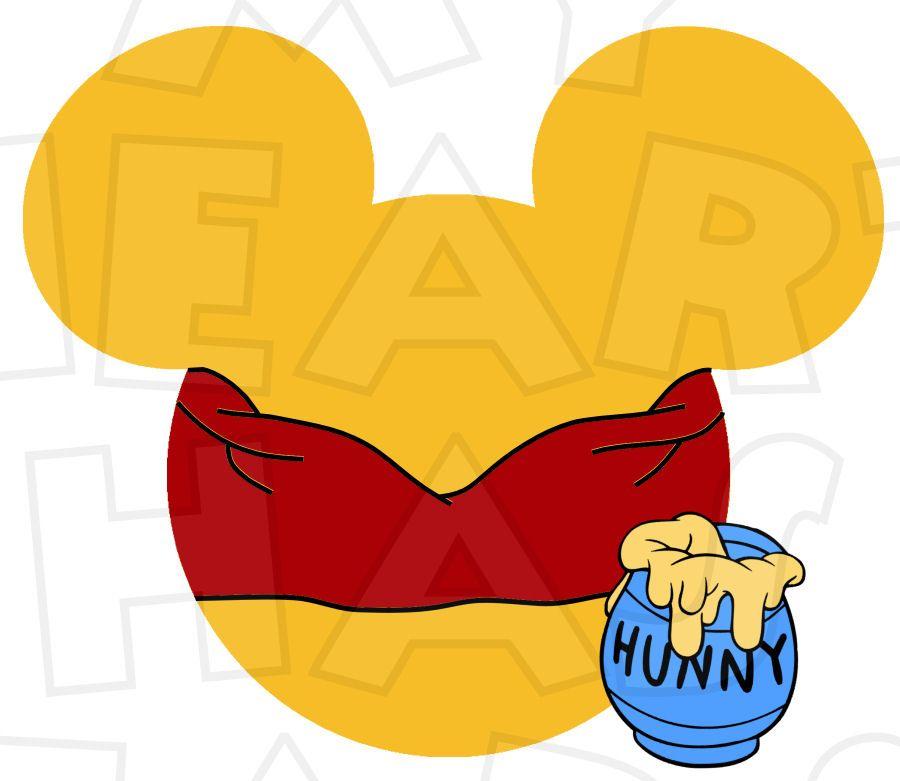 900x781 Winnie The Pooh Mickey Head Instant Download Digital Clip Art