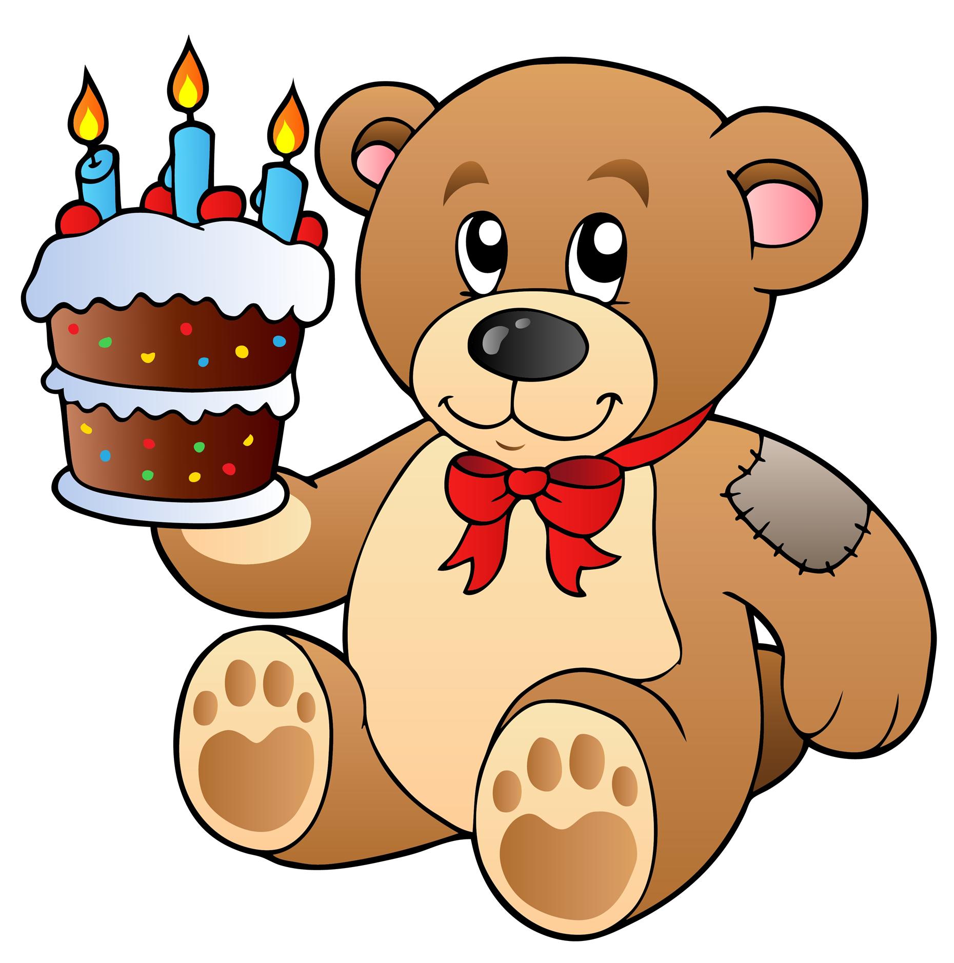1860x1878 Birthday Cake Teddy Bear Clip Art