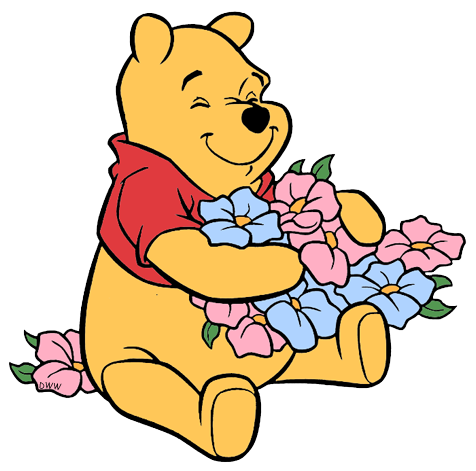 476x471 Winnie The Pooh Clipart Flower