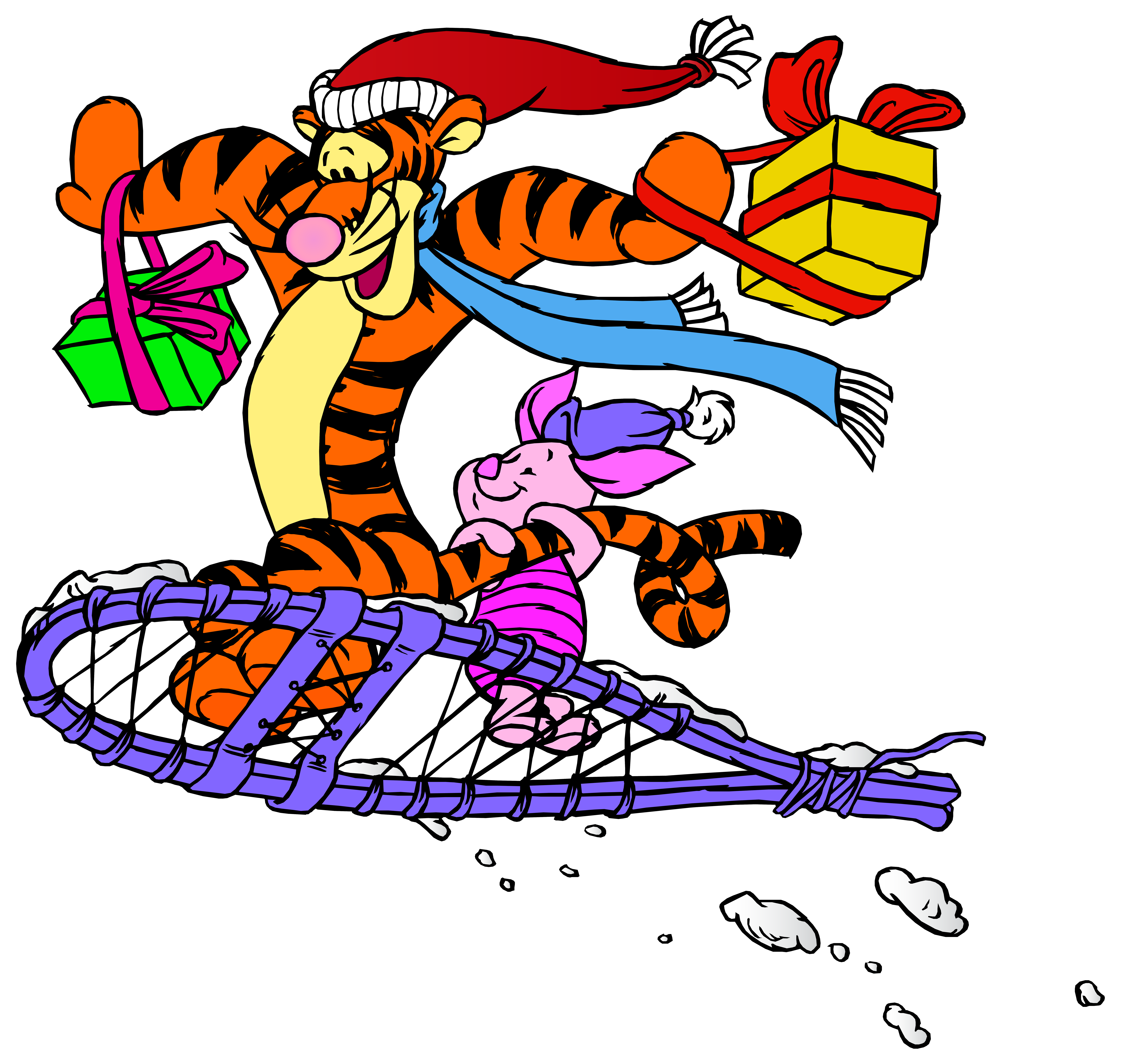 8000x7591 Tigger And Piglet Christmas Png Clip Art