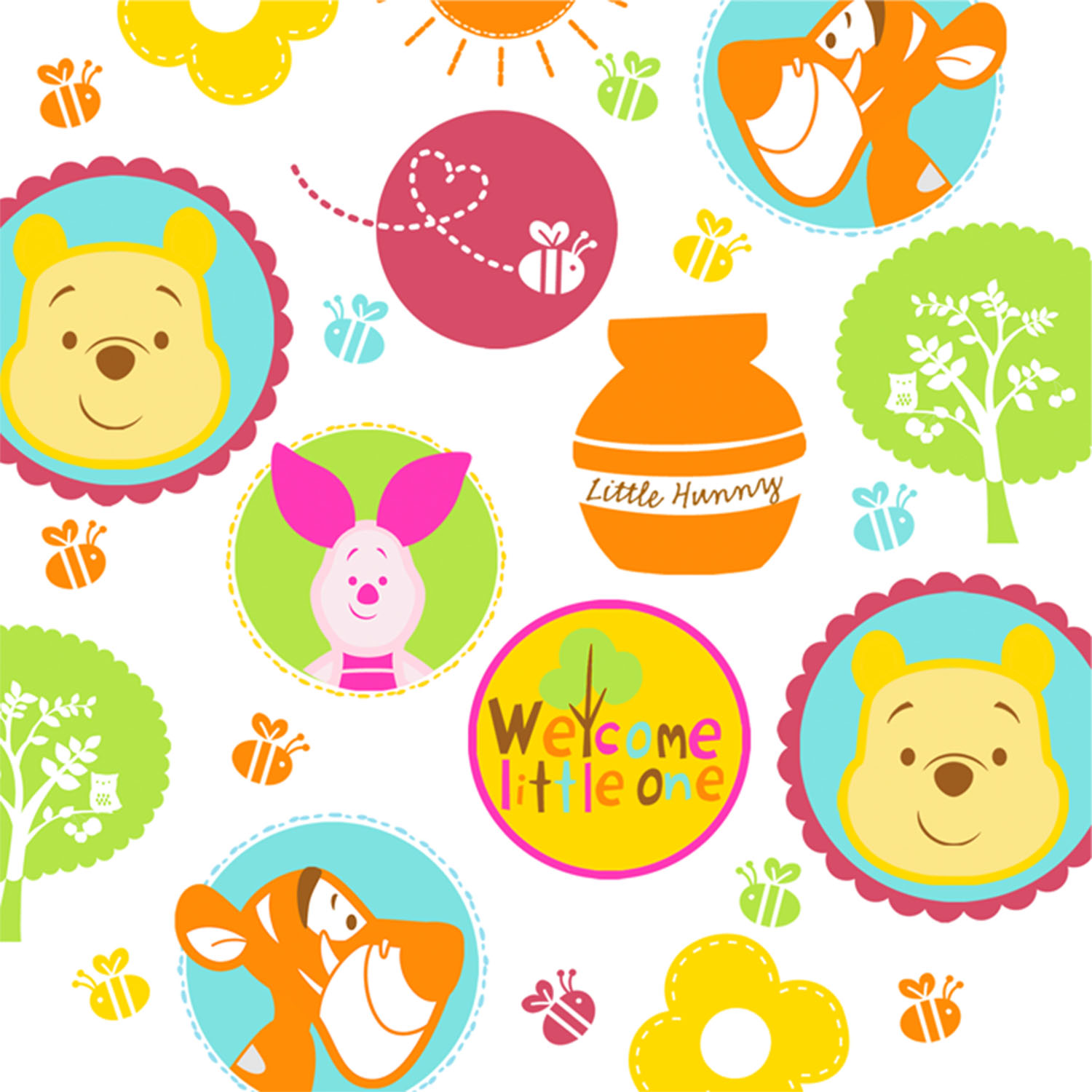 1500x1500 Baby Shower Winnie The Pooh Clipart