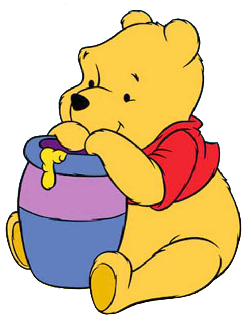 489x631 Winnie The Pooh Clipart Loves Honey