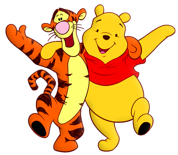 600x524 Winnie The Pooh And Tiger Cartoon Png Free Clipart Disney