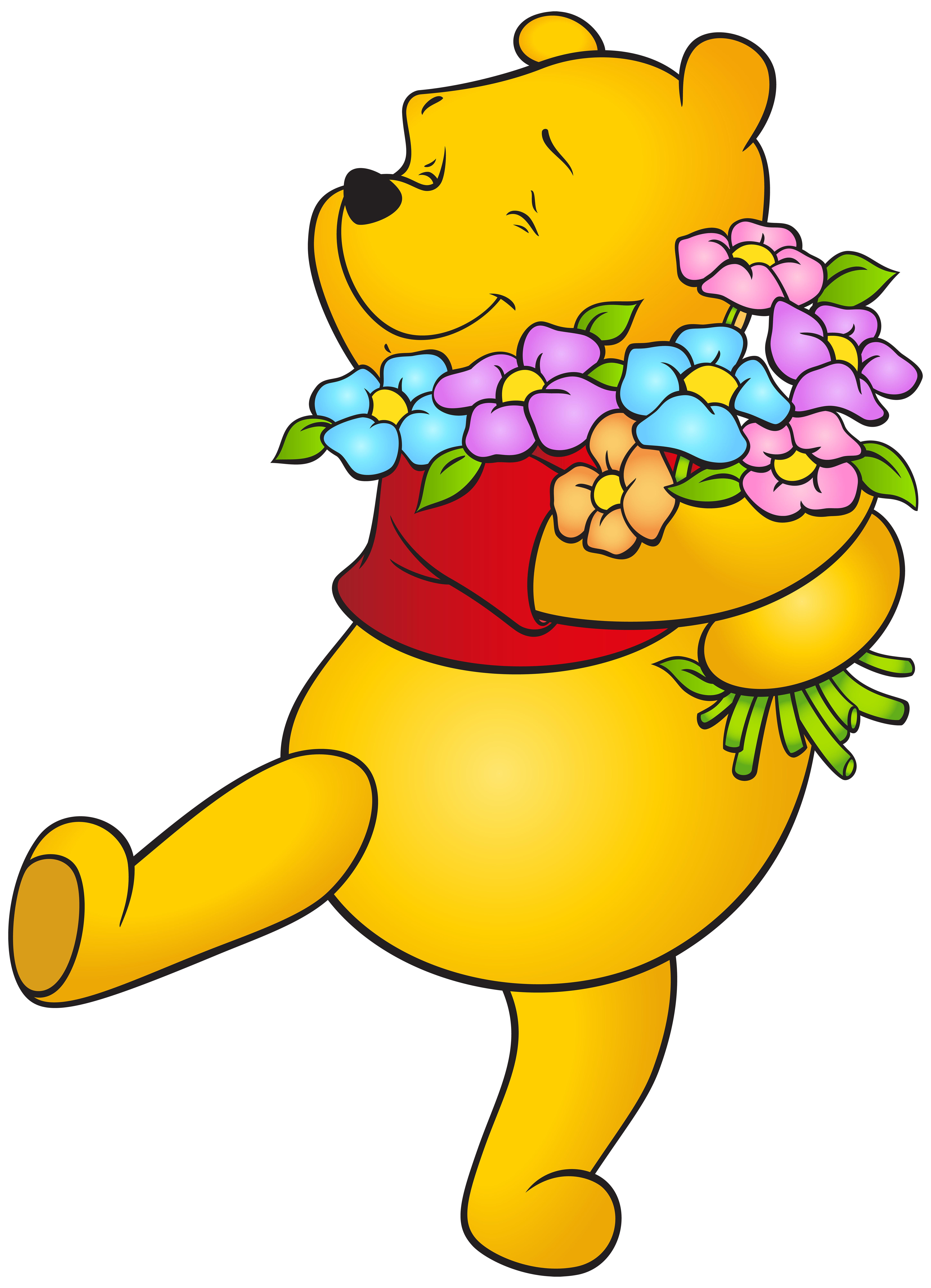 5786x8000 Winnie The Pooh With Flowers Free Png Clip Art Imageu200b Gallery