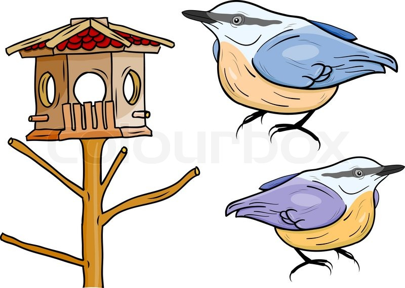 Winter Birds Clipart