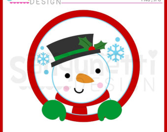 340x270 Winter Clip Art Round Labels Xmas Clip Art Winter Characters