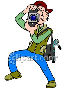 263x350 Photographer Taking Pictures Clip Art