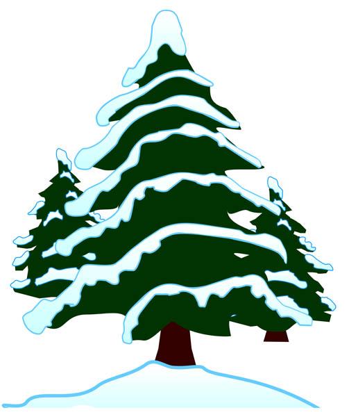 503x600 Winter Clipart Pine Tree