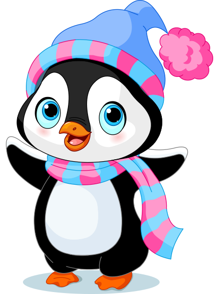 450x600 Cheerful Penguin Penguins, Winter And Clip Art