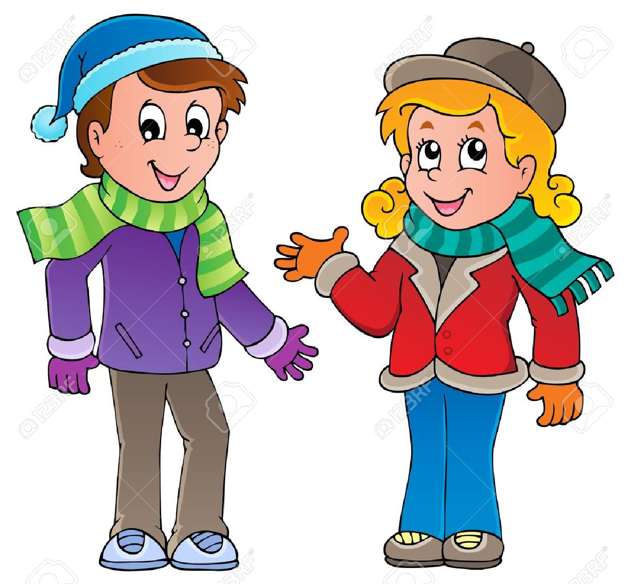 1300x1205 Kids In Winter Clothes Clipart