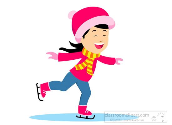 550x400 Skating Clipart Clipart Illustration Of Girl Ice Skating In Warm
