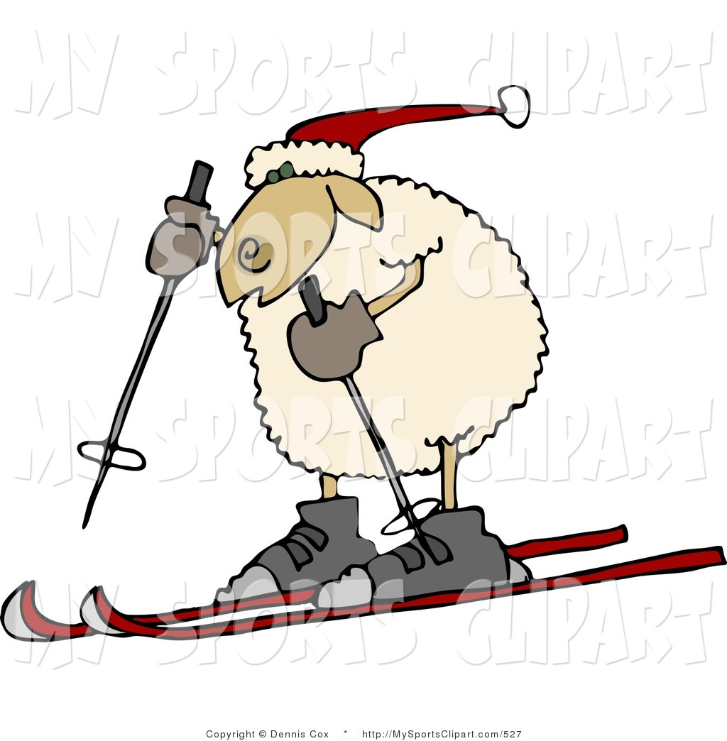 1024x1044 Sports Clip Art Of An Anthropomorphic Sheep In A Winter Hat Snow