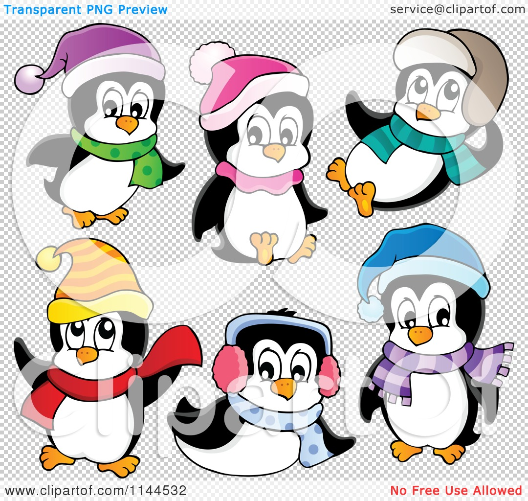 1080x1024 Cartoon Of Cute Little Penguins Wearing Scarves Winter Hats