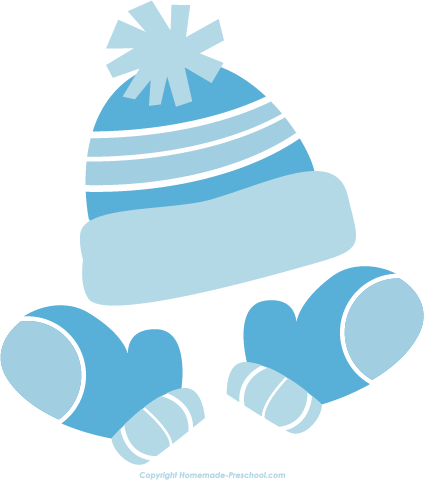 424x480 Hat And Mitten Clipart