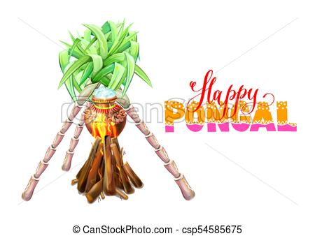 450x338 Happy Pongal Greeting Card To South Indian Winter Holiday