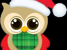 220x165 Christmas Owl Clipart Christmas Owls Clipart Set Cute Owl Clip Art
