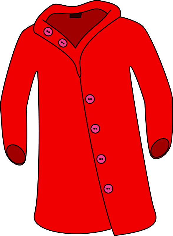 587x800 Overcoat Jacket Clip Art