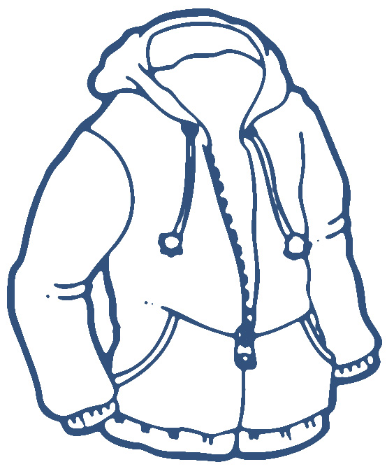 554x680 Winter Jacket Clipart Black And White