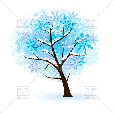 400x400 Stylized Winter Tree Vector Image Vector Artwork Of Plants