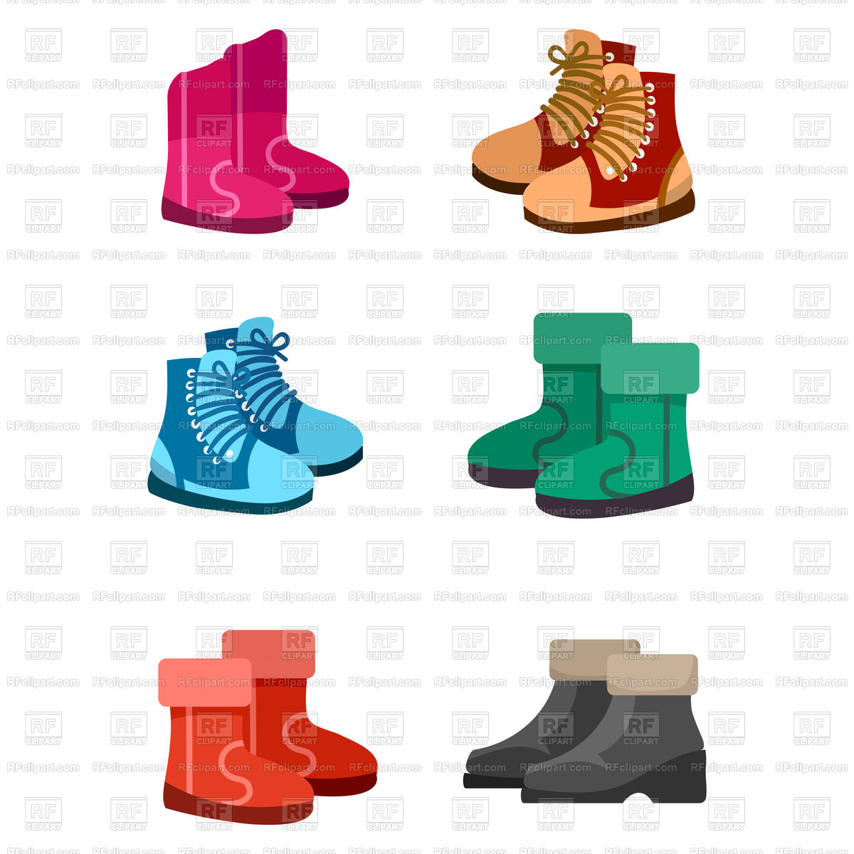 1200x1200 Autumn And Winter Boots Isolated On White Background Royalty Free