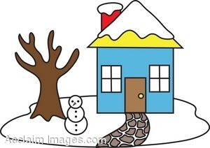 300x212 Collection Of Winter House Clipart High Quality, Free