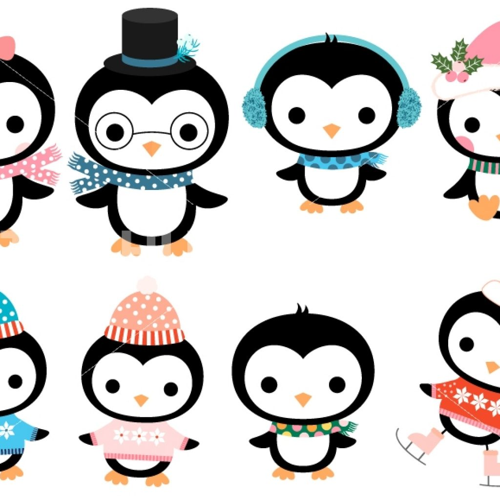 1024x1024 Cute Penguin Clipart Wedding Clipart