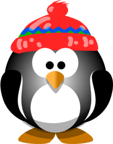 234x298 Cute Penguin With Hat Clip Art