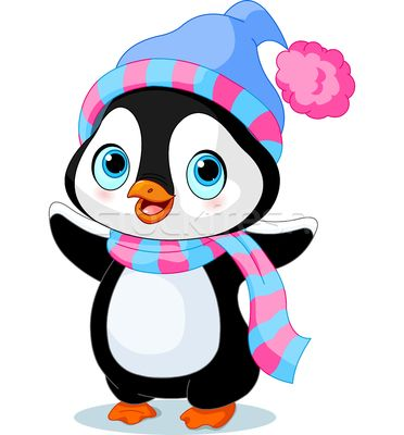 372x400 Cute Winter Penguin