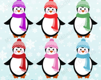 340x270 Christmas Clipart, Penguin Clip Art, Holiday Clipart, Christmas