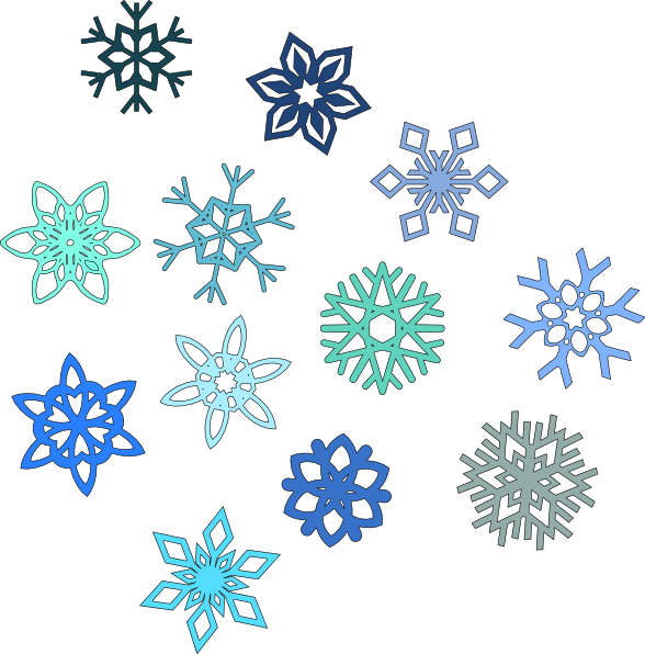588x596 Each Snowflake Is Unique, As Represented In This Collection