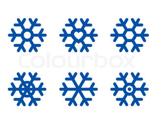 320x247 Nice Blue Snowflake Isolated On The White Background Stock