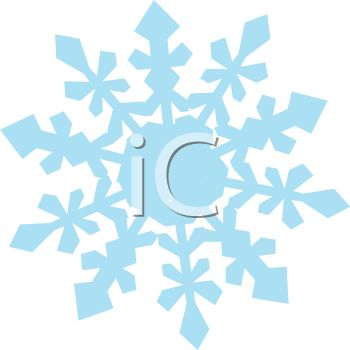 350x350 Royalty Free Clipart Image Winter Snowflake
