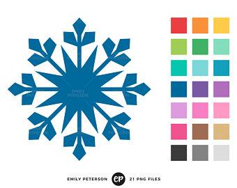 340x270 Snowflake Clipart Watercolor Clipart Winter Snowflake