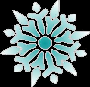 299x288 Snowflake Ice Blue Clip Art
