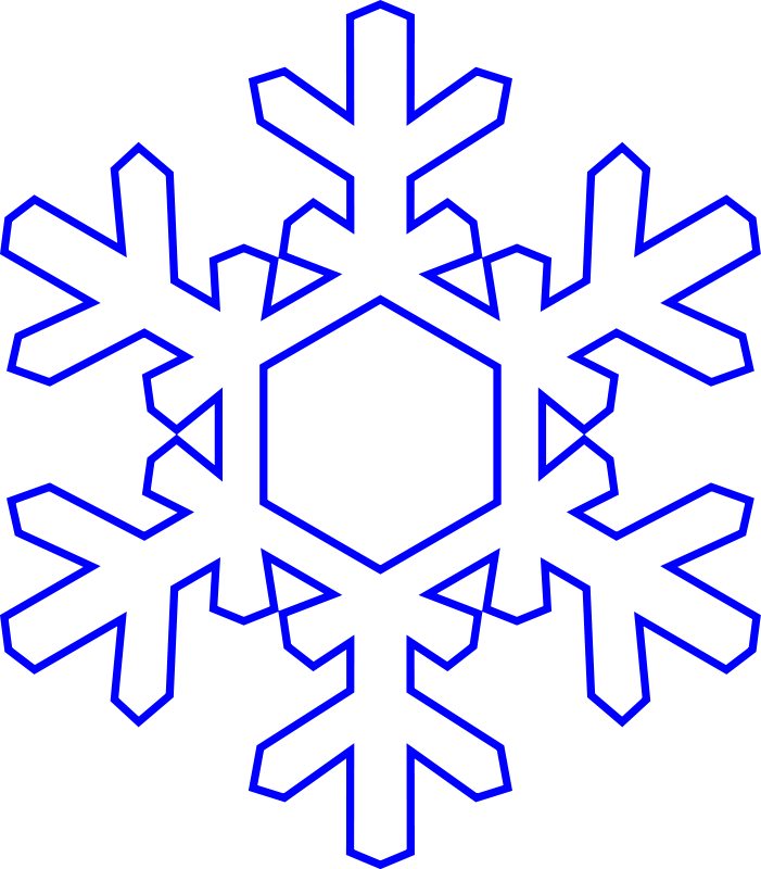 701x800 Free Snowflake Clipart Clip Art And Ornament