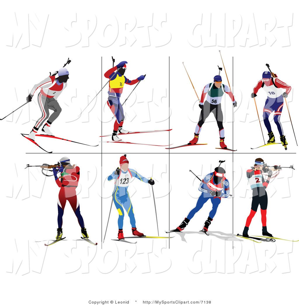1024x1044 Sports Clip Art Of A Biathlon Runner Icons By Leonid