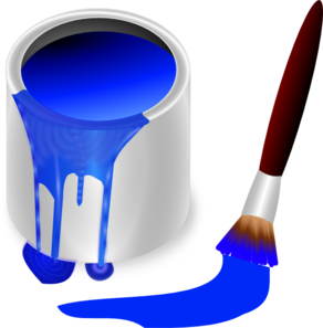 292x297 Blue Clipart Paintbrush