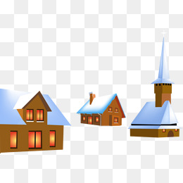 260x260 Cartoon H5 Background Snow Village, Cartoon, Snow, Village