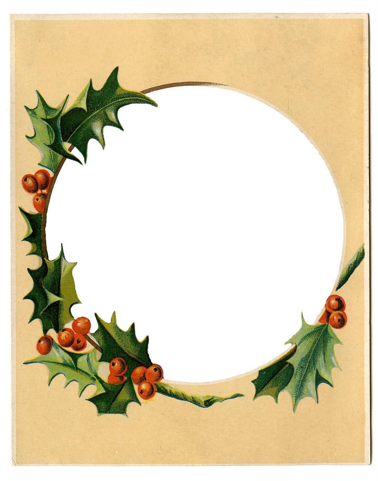 1258x1600 Christmas Frame Clipart