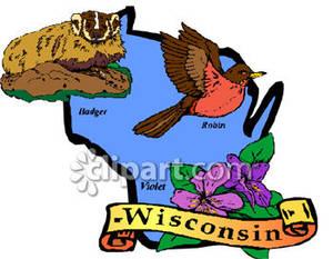 300x233 Robin Clipart Wisconsin