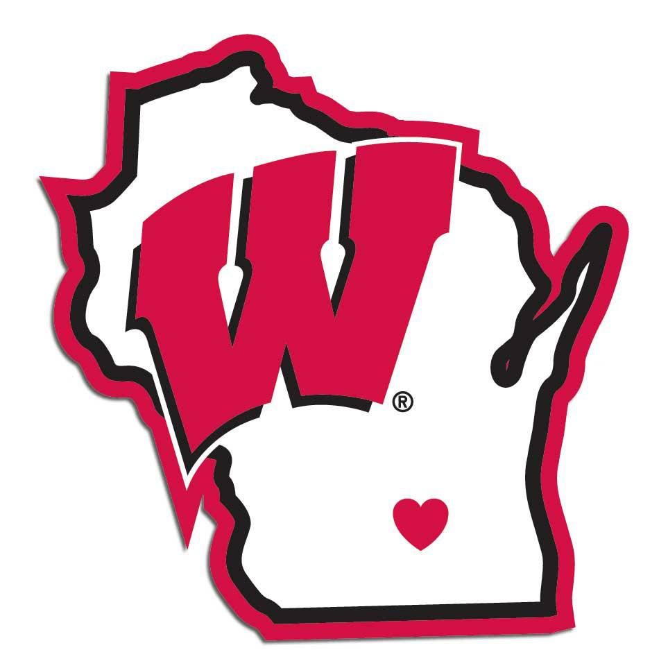 963x963 Wisconsin Badgers State Decal