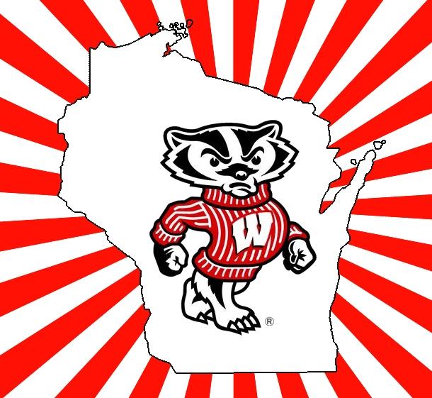 610x561 Ash Towel 100% Biodegrade Wisconsin Bucky Badger