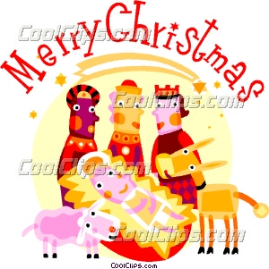 300x301 Wise Men With Baby Jesus And Animals Clip Art