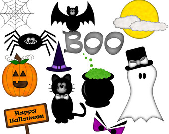 340x270 Halloween Clip Art, Haunted House Clipart, Witch Clip Art