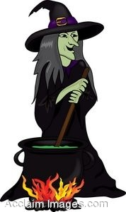 178x300 Clip Art Of A Cauldron Being Stirred By A Witch
