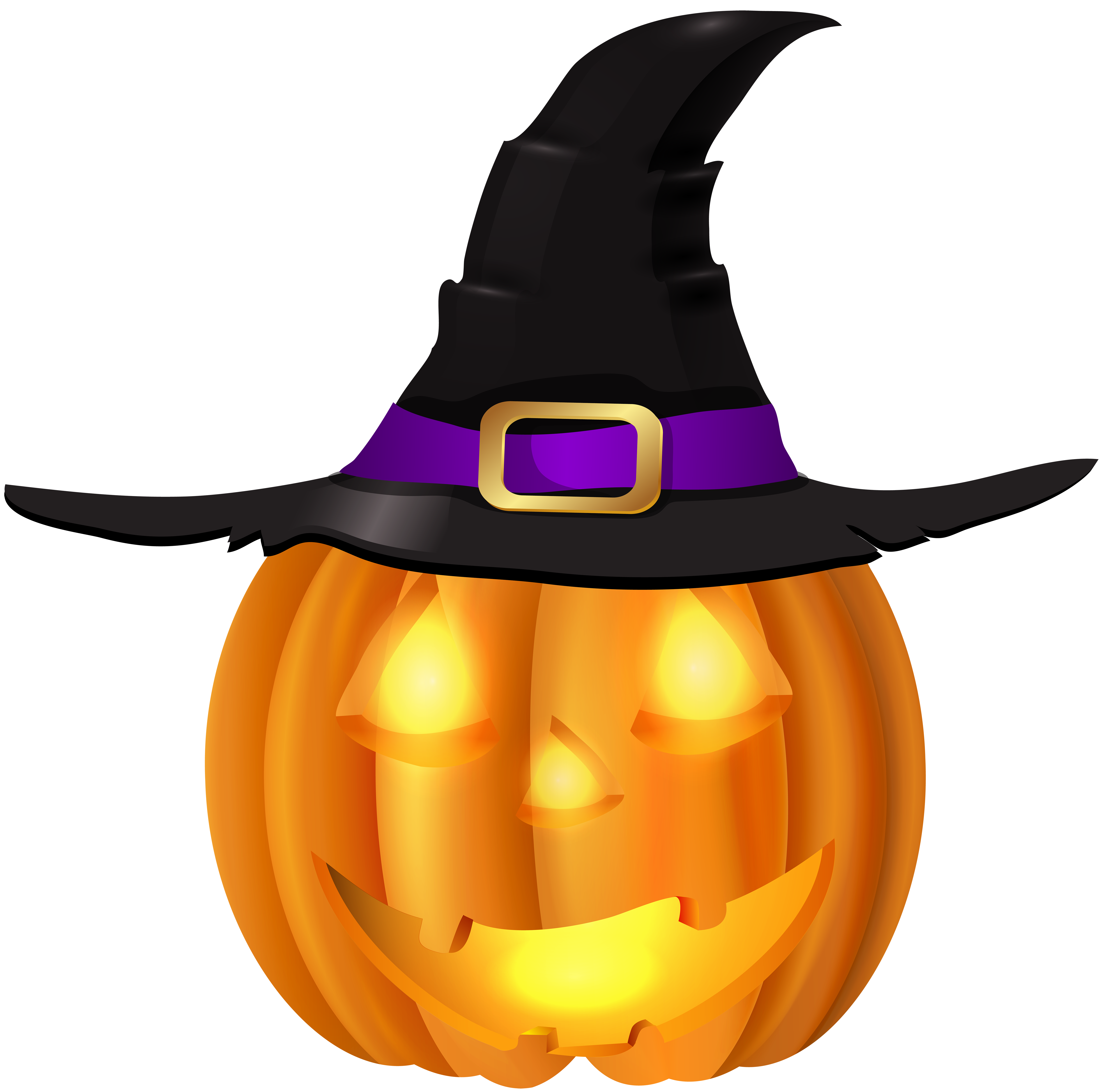 6000x5933 Halloween Pumpkin With Witch Hat Png Clip Artu200b Gallery