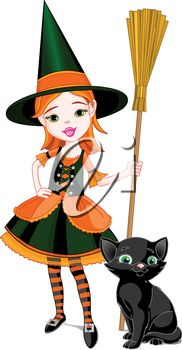 182x350 Cute Witch Pictures Cute Cartoon Witch Stock Vector Pedro